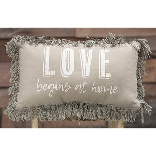 Love Begins At Home PillowOld Time Shoppe