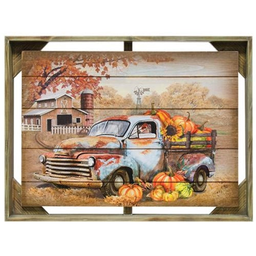 Autumn Truck Framed Wall Art - Old-Time-Shoppe