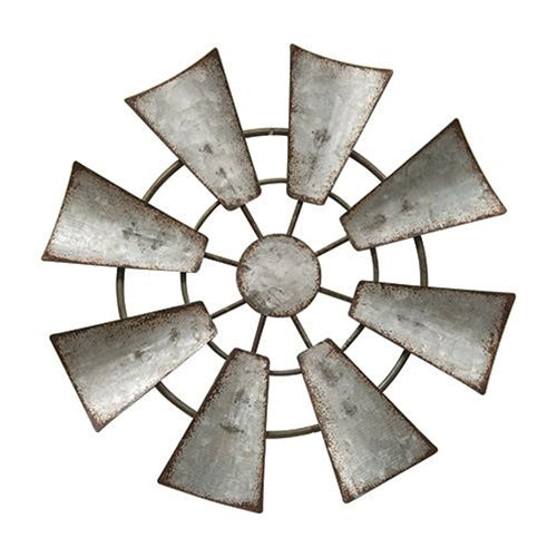 Galvanized Metal Hanging WindmillOld Time Shoppe