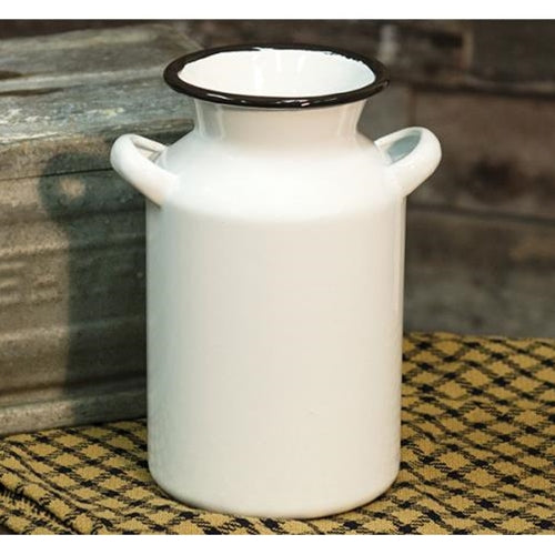 Enamel Milk Can, Red or BlackOld Time Shoppe