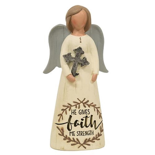 Resin He Gives Me Faith AngelOld Time Shoppe