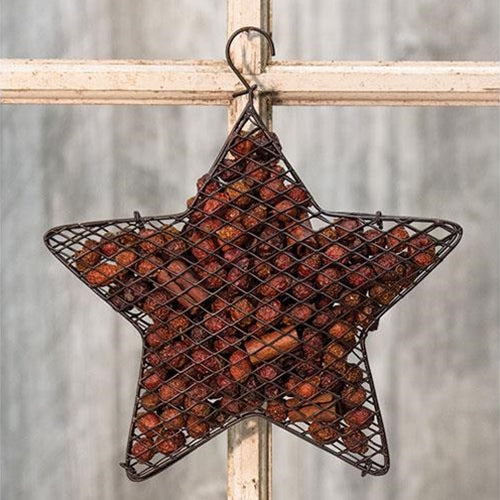 "Wire Mesh Star w/Cinnamon Potpourri, 9""Old Time ShoppePotpourri"
