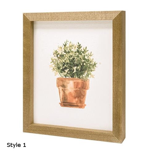 Potted Herb Print - 9'' x 11''Old Time Shoppe