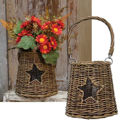 Glass/Willow Star BasketOld Time Shoppe