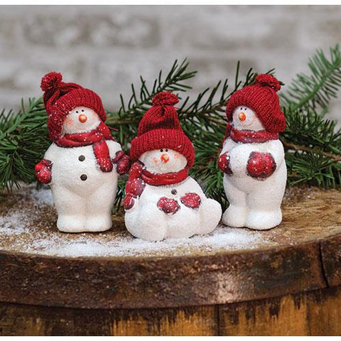 3/Set, Snowbabies At Play - Old-Time-Shoppe