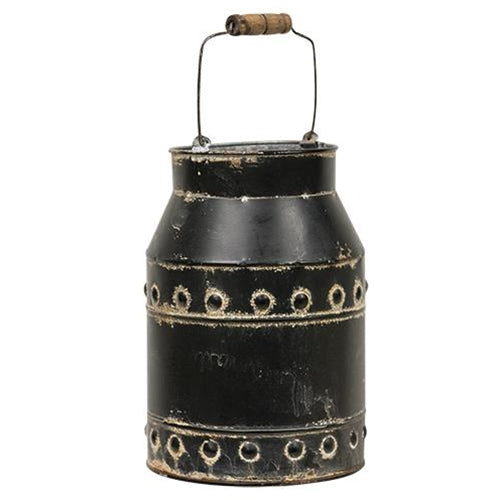 Black Rustic Milk Can With HandleOld Time Shoppe