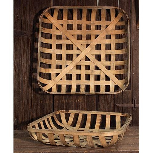 2/Set, Square Tobacco Baskets - Old-Time-Shoppe