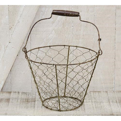 Chicken Wire Basket w/Handle - Old-Time-Shoppe