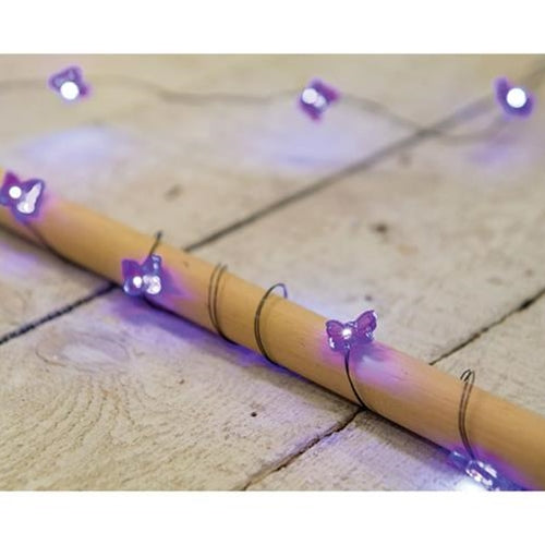 Purple Butterfly Moon Lights, 20ctOld Time Shoppe