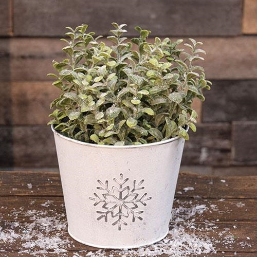 Metal Snowflake Embossed Bucket