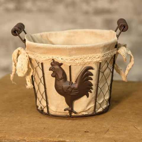 Rooster Wire BasketOld Time Shoppe