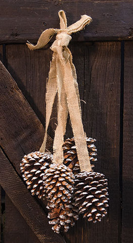 Glitter Pinecone Drop Ornament