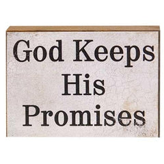 God Keeps His Promises BlockOld Time Shoppe