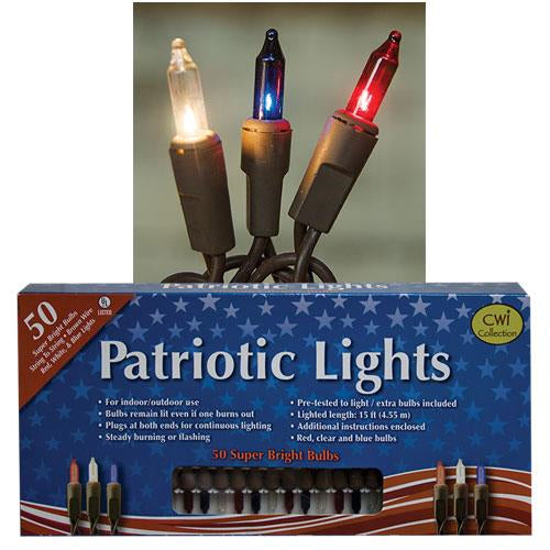 Patriotic Lights 50 ct.Old Time Shoppe