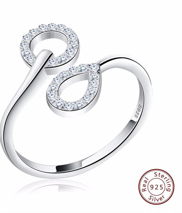 925 Sterling Silver Women Ring Austrian Cubic Zirconia