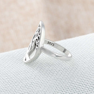 925 Sterling Silver Tree Weave Ring