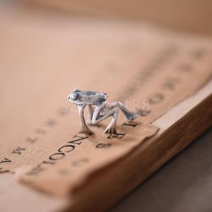 925 Sterling Silver Frog Cuff Ear Clip
