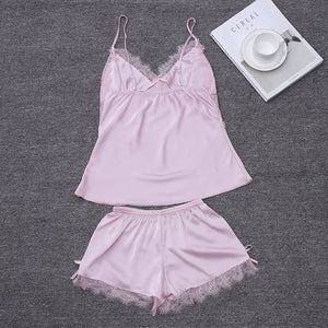 Lace Women Pajamas Short Set