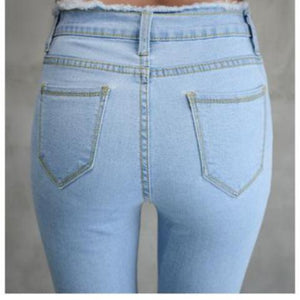 Ankle-Length Jeans High Waist Stretch Skinny