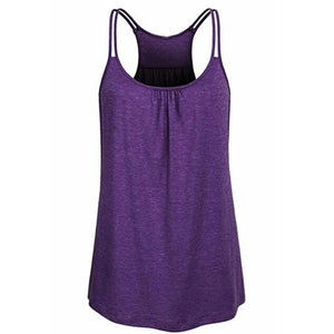 Loose Scoop Neck Yoga Workout Tank Top