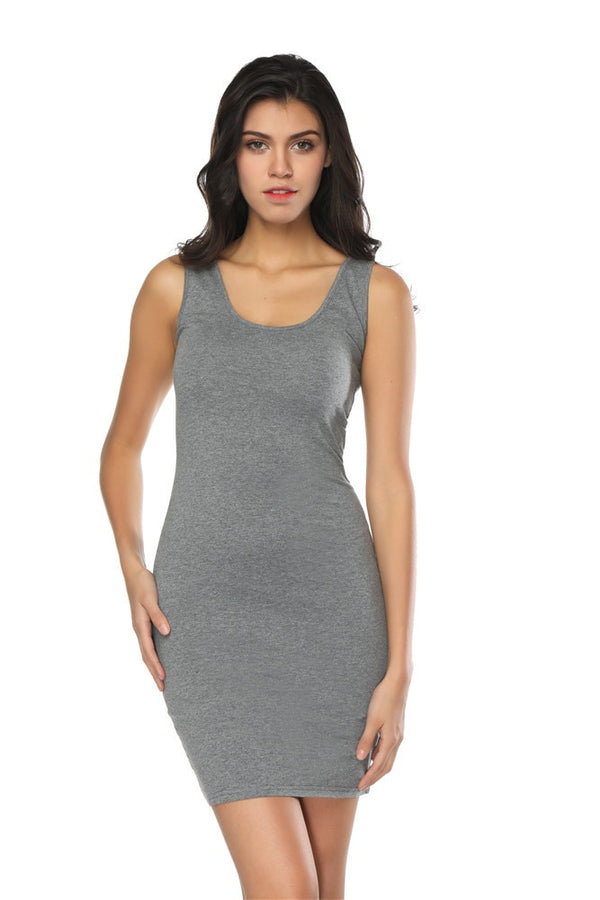 Slim Fitted Tank Dress