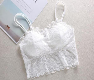 Sheer Lace Bralette Bra