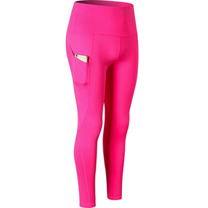 Capris High Waist Fitness Leggings Phone Pocket
