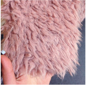 Fluffy Shaggy Faux Fur Jacket