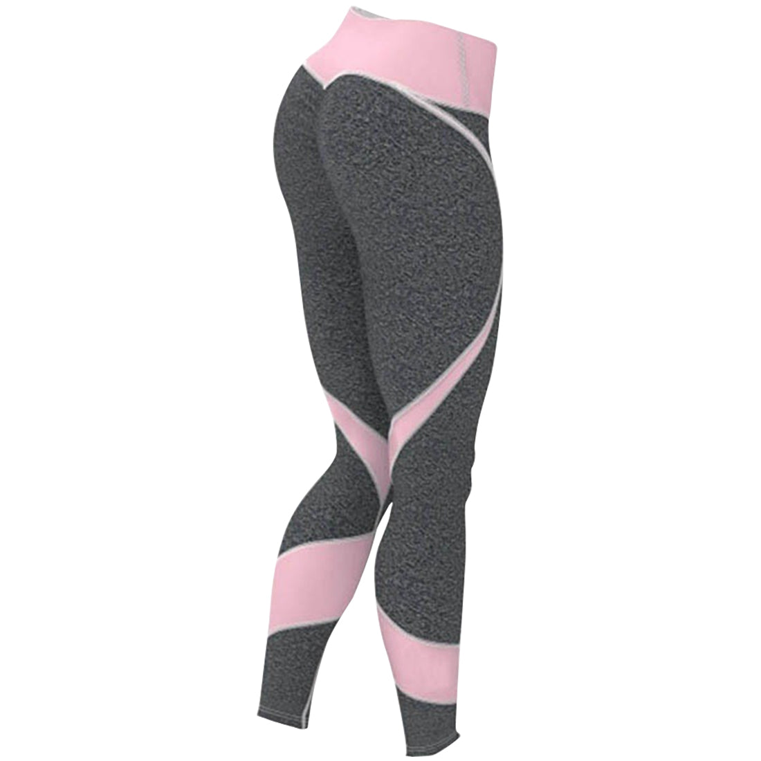 f63659034d715 Pink And Grey Yoga Pants Fitness Gym Leggings - Aveal