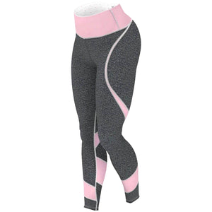 Pink And Grey Yoga Pants Fitness Gym Leggings