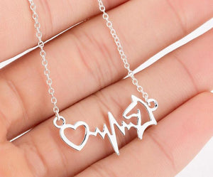 Heart Beats For Horses Necklace