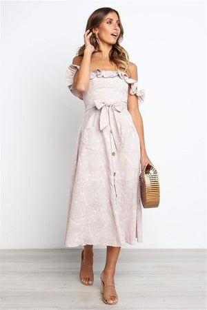 Ruffle Off Shoulder Sundress