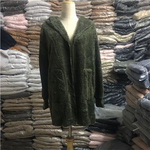 Hooded Soft Fleece Cardigan Jacket
