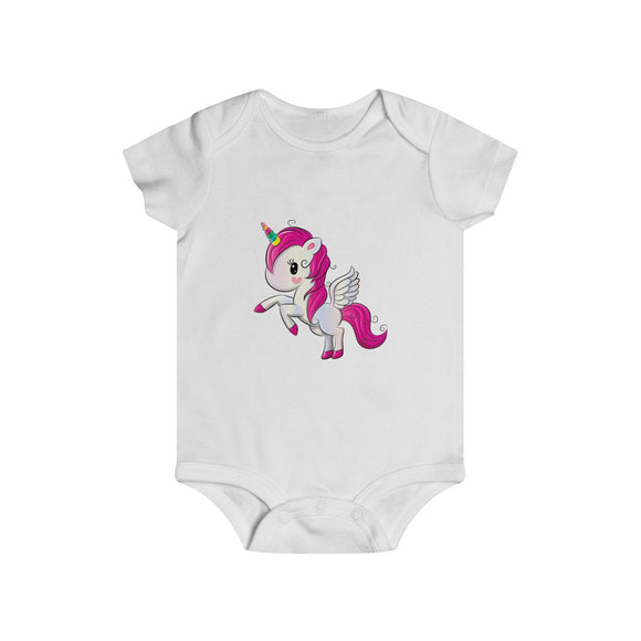 Unicorn Prints Infant Rip Snap Tee (6m-24m) (Design by TopKidz)
