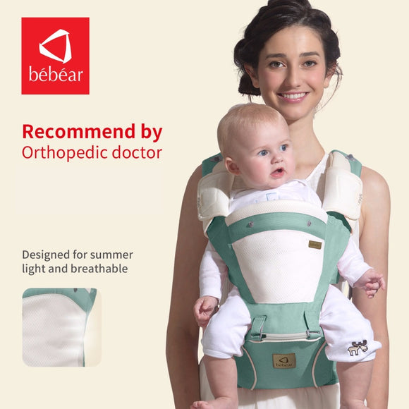 Bebear new hipseat prevent o-type legs 6 in 1 carry style load 20Kg Ergonomic baby carriers, kid sling