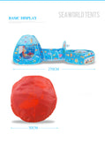 Toys Tunnel Tent Ocean Series Cartoon Game Ball Pits Portable Pool Foldable Children Outdoor Sports Educational Toy With Basket