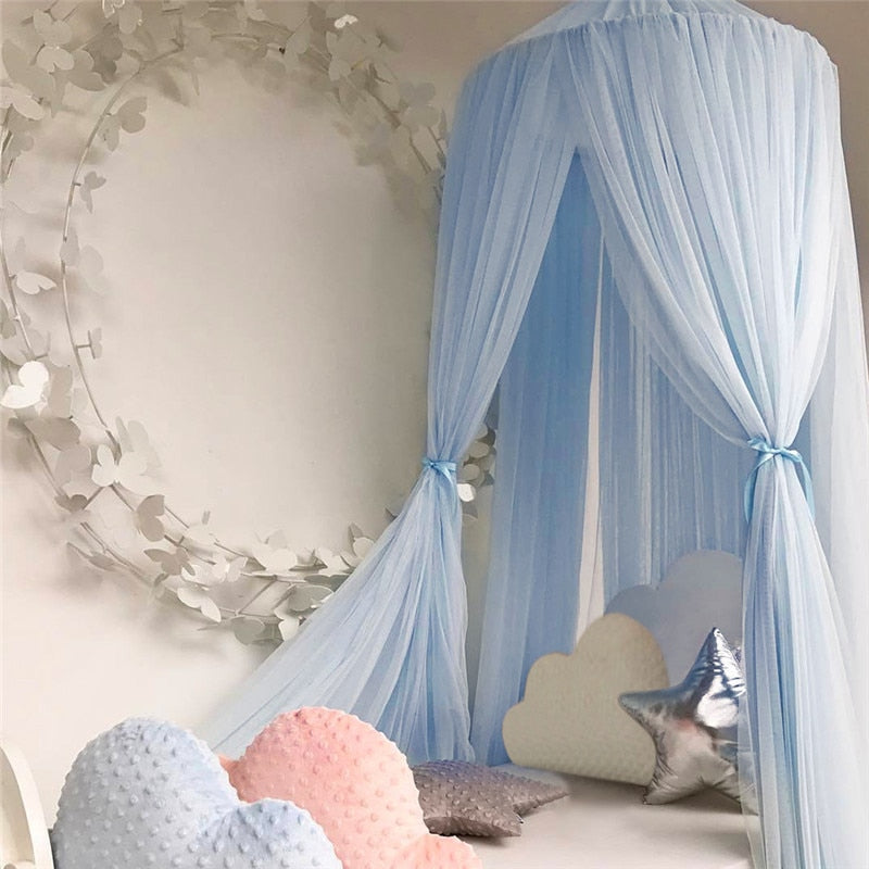 Baby Bedding Baby Crib Netting Princess Dome Bed Canopy Childrens Bedding Round Lace Mosquito Net For Baby Sleeping Terrific Value
