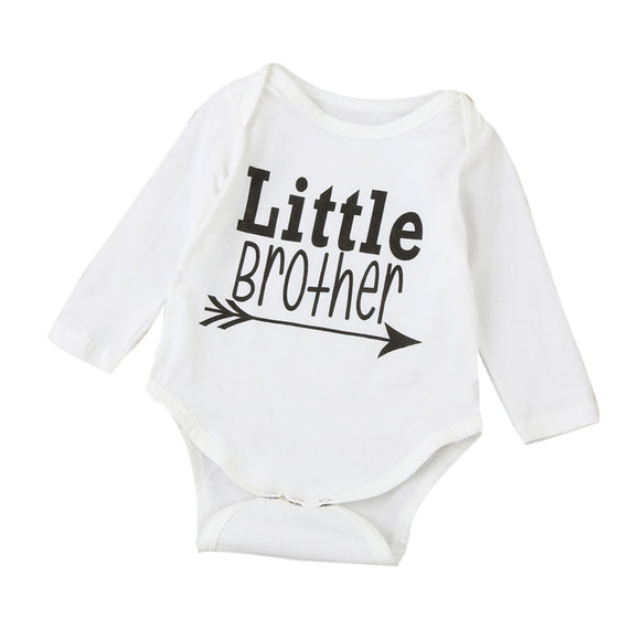 Warm Clothes Long Sleeve Baby Rompers Jumpsuit Letters