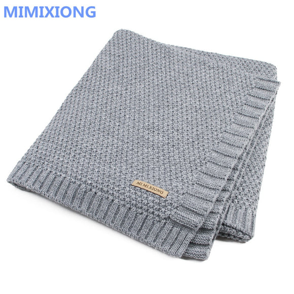 Baby Blanket Knitted Newborn Swaddle Bedding Quilt For Bed Sofa Basket Stroller Blankets