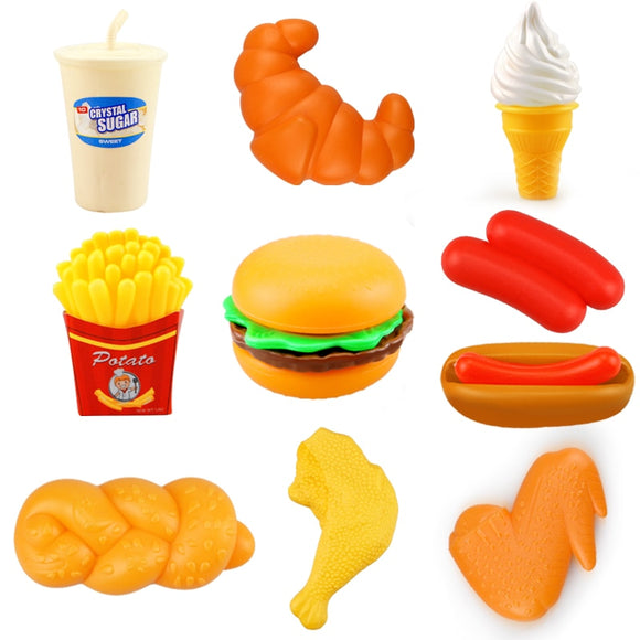 10PCS Miniature Food Kitchen Toy Set Pretend Play Do House Simulation Cooking