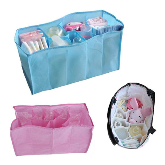 Portable Travel 7 Liners Baby Food Storage Diaper Nappy Stuffs Storage Bin