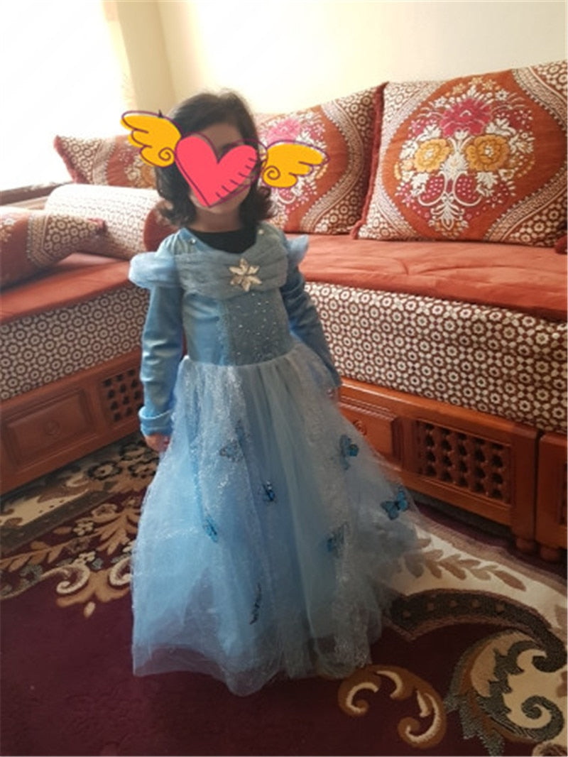 5600e927f64 ... Cinderella Elsa Dress Costumes For Kids Cosplay Princess Anna Children Party  Dresses Fantasia 10 Yr ...