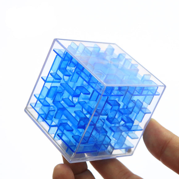 3D Cube Puzzle Maze Toy Hand Game Case Box Fun Brain Game Challenge Fidget