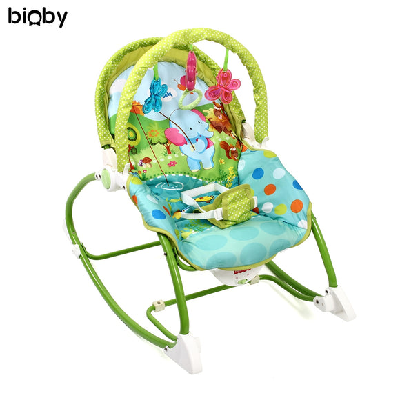 Baby Infant Music Chair Folding Cradle Seat Baby Vibration Swing Toys Sleeper