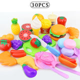 12-31PCS Cutting Fruit Vegetable Food Pretend Play Do House Toy Children's Kitchen