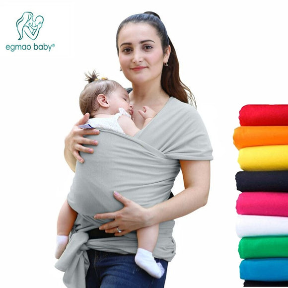 EGMAO Comfortable Fashion Infant Sling Soft Natural Wrap Baby Carrier Backpack 0-3 Yrs Breathable Cotton