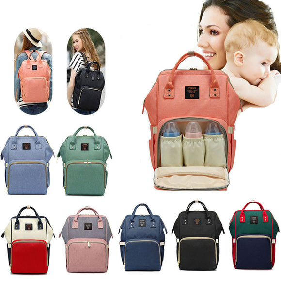 Fashion Maternity Nappy Bag Large Capacity Travel Backpack Designer Nursing Bag for Baby Care
