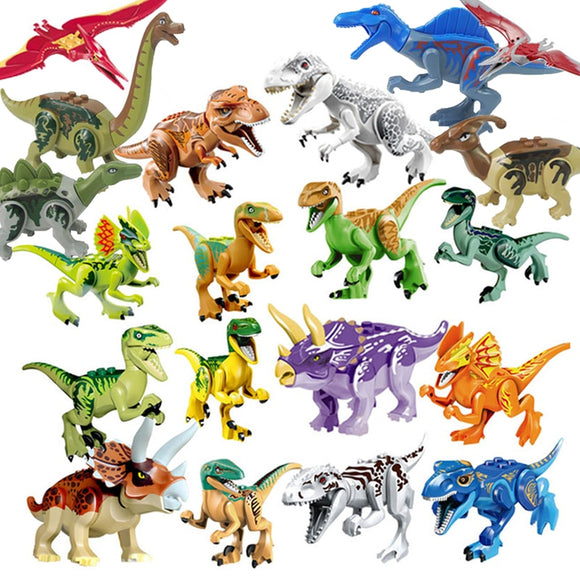 Jurassic Dinosaurs World Park Dinosaur Raptor protection zone Building Blocks Set