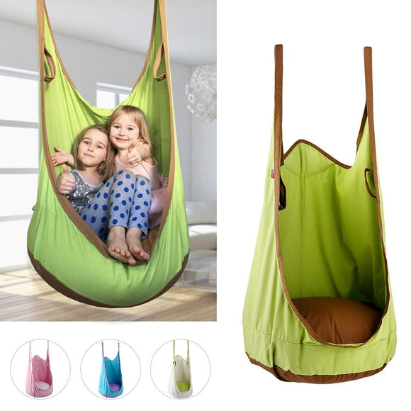 High Quality Cotton canvas swing Baby Children Indoor Pod Swing Hammock Hanging