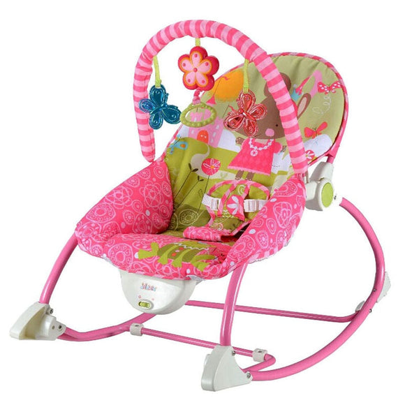 Portable Electric Music Baby Rocking Chair Infant Toddler Cradle Rocker Baby Bouncer
